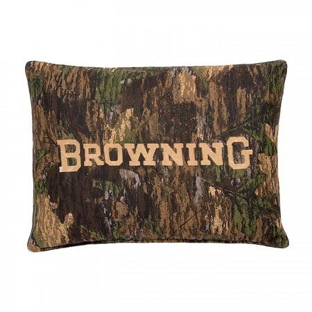 Camo Deer by Browning Oblong Pillow - Black