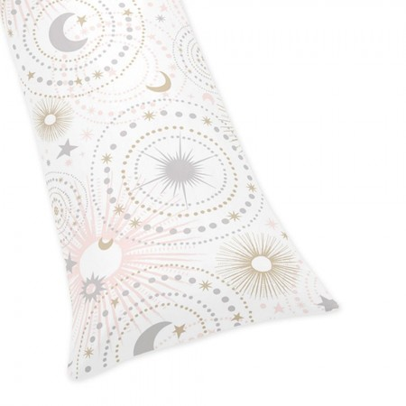 Celestial Pink & Gold Body Pillow Cover