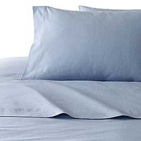 Blue Chambray Flannel Bunkbed Comforter - Clearance