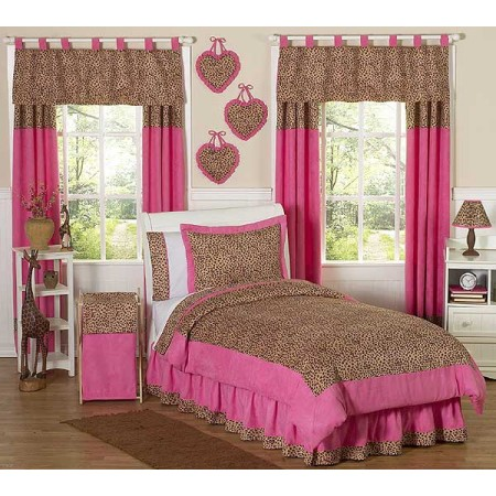 Cheetah Pink Bedding Set - 4 Piece Twin Size By Sweet Jojo Designs