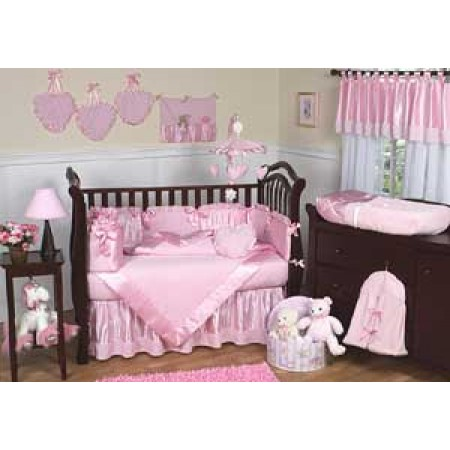 Chenille Pink Crib Bedding Set by Sweet Jojo Designs - 9 piece