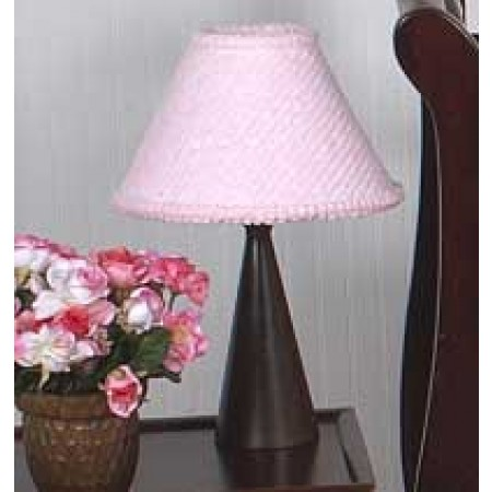 Chenille Pink Lamp Shade
