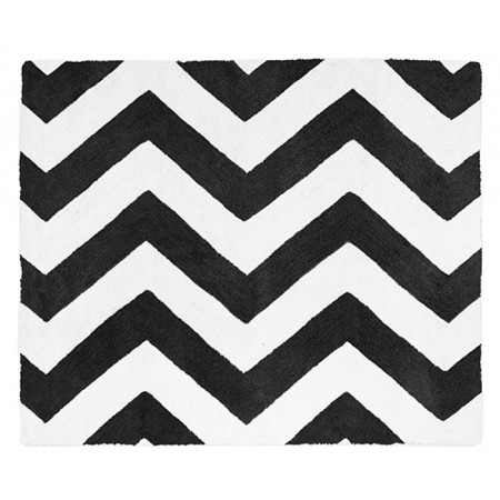 Black & White Chevron Floor Rug