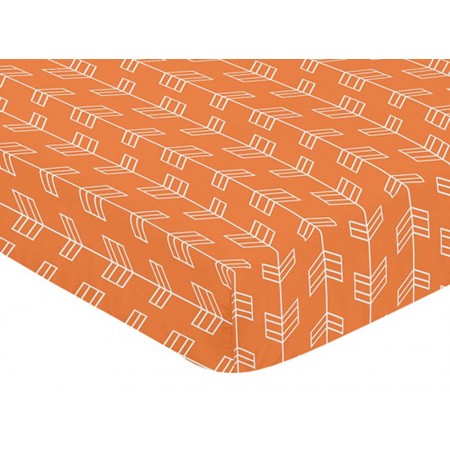 Arrow Orange & Navy Crib Sheet