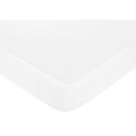 Standard Crib Sheet - White Brushed Microfiber