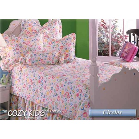 Circles 4 Piece Twin Size Bedding Set - Clearance Item