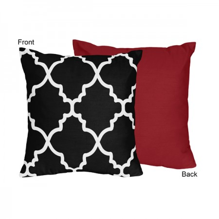 Trellis Red and Black Collection Decorative Accent Throw Pillow