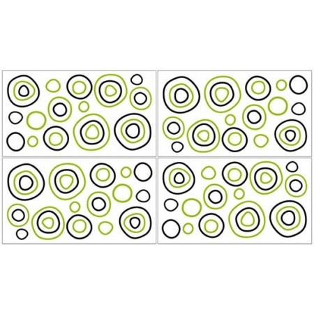 Spirodot Lime & Black Wall Decals