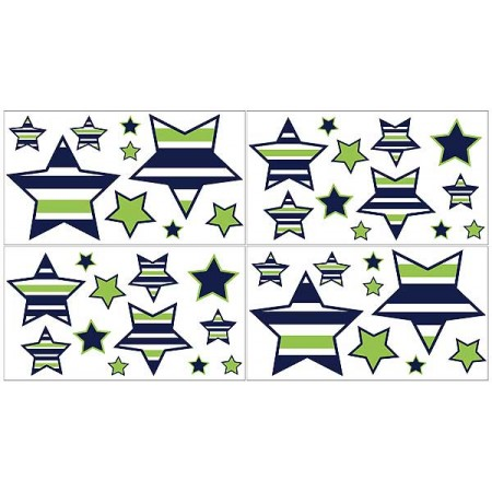 Navy & Lime Stripe Wall Decals