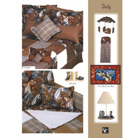 Derby Print Top Sheet - Crib Size