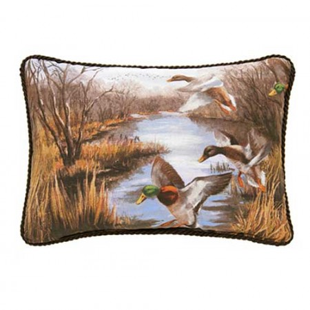 Duck Approach 14 X 20 Oblong Pillow - Corded/Scene