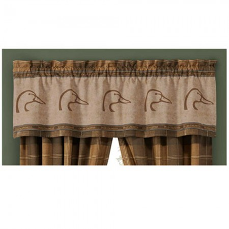 Ducks Unlimited Plaid Valance