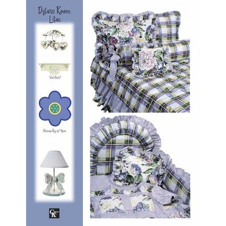 Dylans Room Print Fitted Sheet - Crib Size