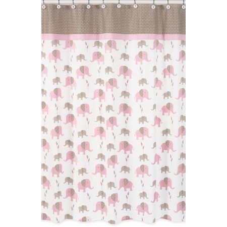 Elephant Pink Shower Curtain