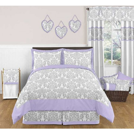 Lavender & Gray Elizabeth Comforter Set - 3 Piece Full/Queen Size By Sweet Jojo Designs
