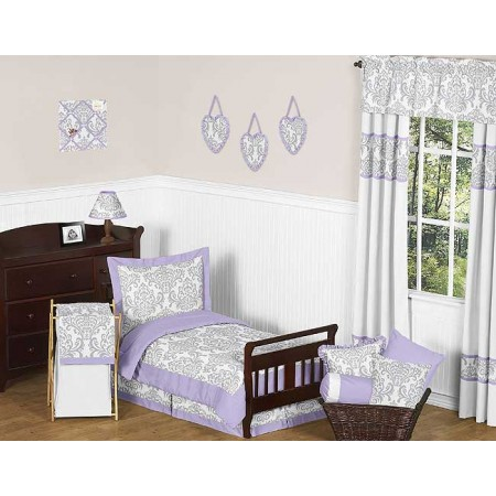 Lavender & Gray Elizabeth Toddler Bedding Set By Sweet Jojo Designs