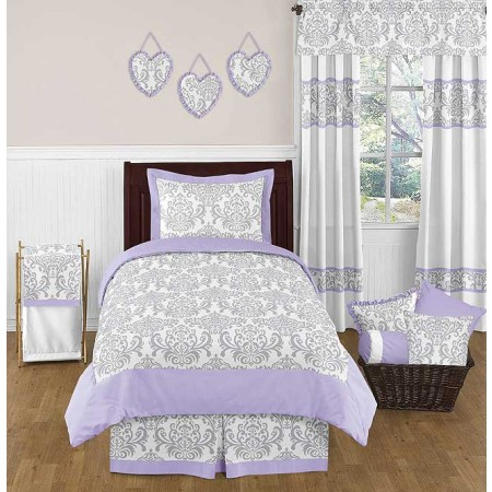 Lavender & Gray Elizabeth Bedding Set - 4 Piece Twin Size By Sweet Jojo Designs