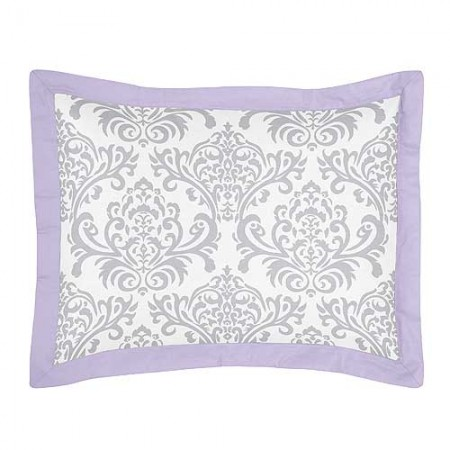 Lavender & Gray Elizabeth Pillow Sham