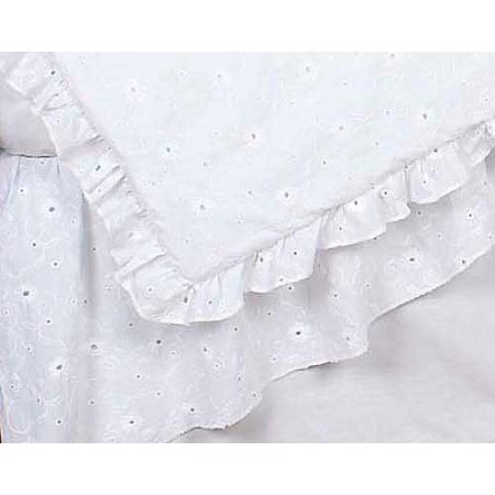 White Eyelet Crib Bedding Set by Sweet Jojo Designs - 9 piece
