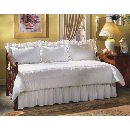 300 Thread Count Solid Color Daybed Set - 5 Piece Ruffled - Select from 8 Colors