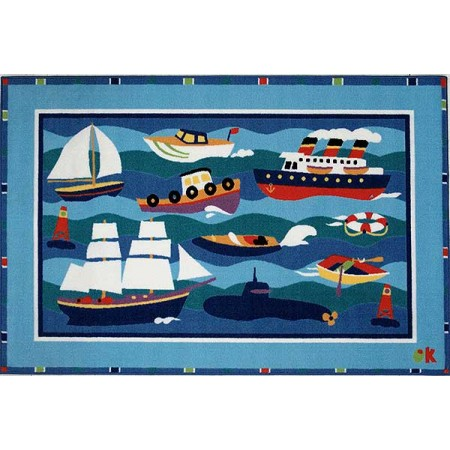 Fun Rugs Boats & Bouys Rug by Olive Kids
