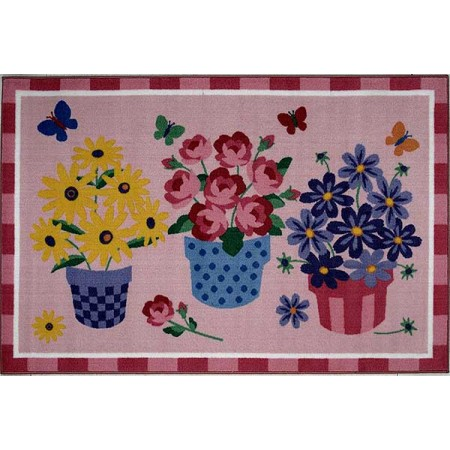 Blossoms & Butterflies Accent Rug