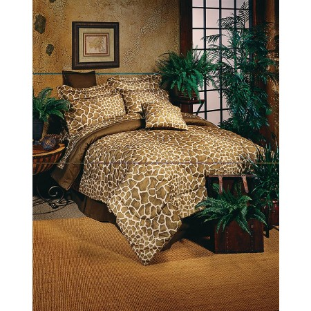 Giraffe Print Square Pillow