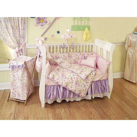 Glitter Fairy 4 Piece Crib Bedding Set by California Kids