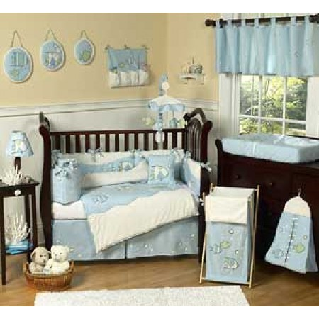 Go Fish Crib Bedding Set by Sweet Jojo Designs - 9 piece