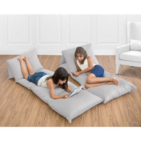 Solid Gray Pillow Case Lounger