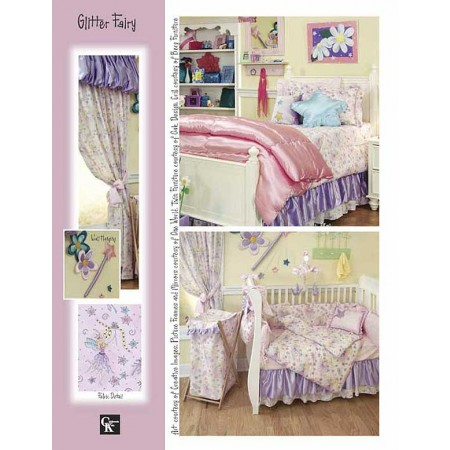 Glitter Fairy Print Fitted Sheet - Crib Size