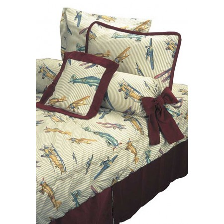 Gold Baron Airplane Print Bunk Bed Hugger Comforter - Clearance