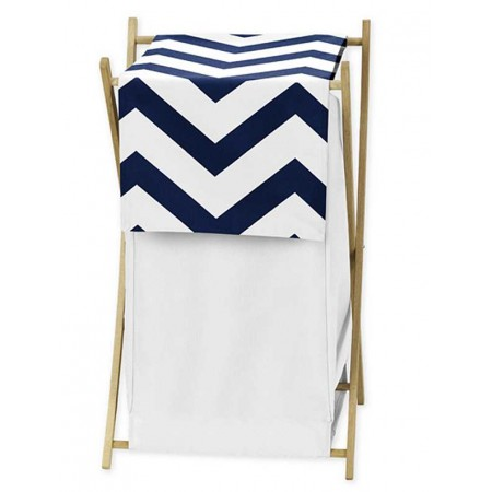 Navy & White Chevron Print Hamper