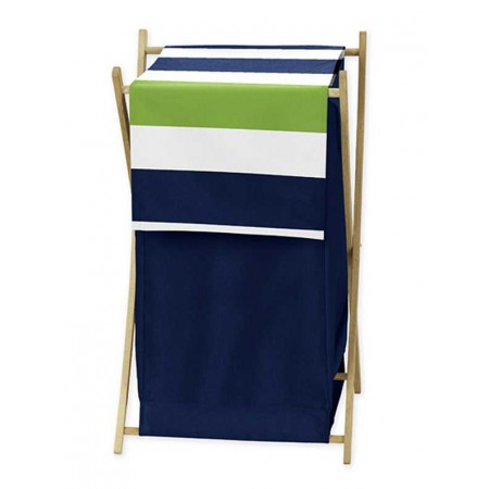 Navy & Lime Stripe Hamper