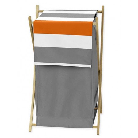 Gray & Orange Stripe Hamper