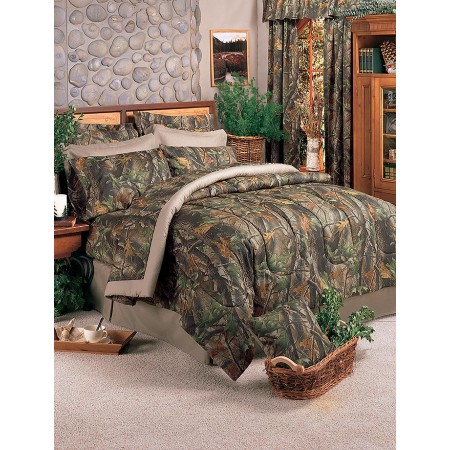 Hardwoods Camouflage Comforter Set from Realtree - Twin Size - Clearance