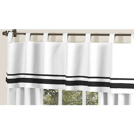 Hotel White & Black Valance
