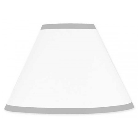 Hotel White & Gray Lamp Shade