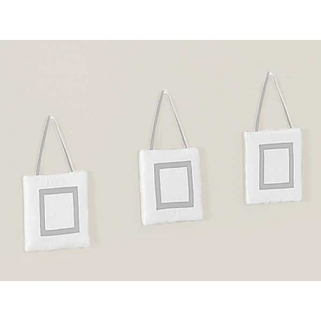 Hotel White & Gray Wall Hanging