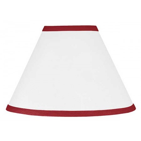 Hotel White & Red Lamp Shade