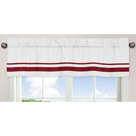 Hotel White & Red Valance