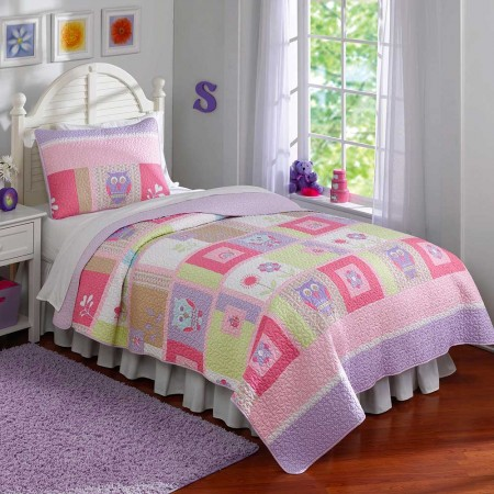 Happy Owls Quilt Set - Twin Size