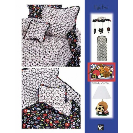 High Five Print Top Sheet - Crib Size - Baseball Print