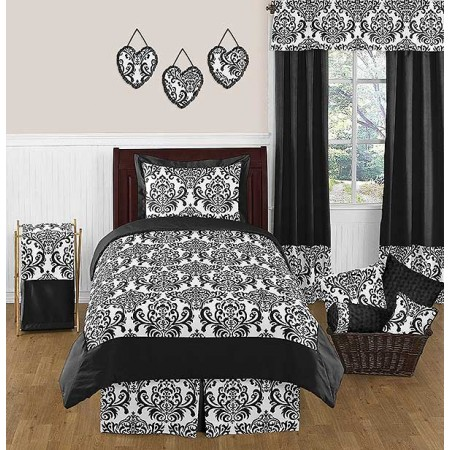 Isabella Black Bedding Set - 4 Piece Twin Size By Sweet Jojo Designs