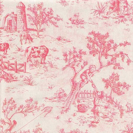Isabella Pink Print Top Sheet by California Kids - Crib Size