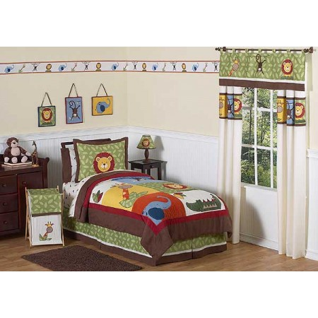 Jungle Time Comforter Set - 4 Piece Twin Size By Sweet Jojo Designs