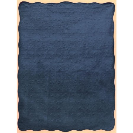 Harmonious Mist Throw Size Quilt - Kentucky Blue