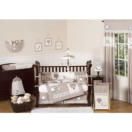 Little Lamb Crib Bedding Set by Sweet Jojo Designs - 9 piece