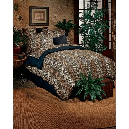 Karin Maki Leopard Print Comforter Set for Dorm Rooms - Extra Long Twin
