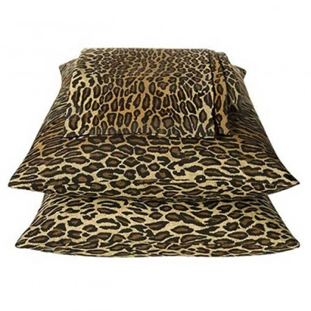 Leopard Print Flex Fit Waterbed Sheet Set - Super Single